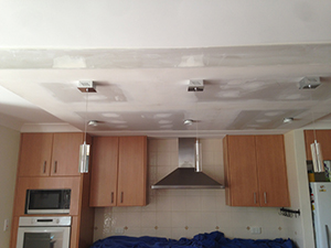 After ceiling repair result